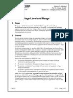 Ansi c84.1 Voltage Level and Range