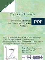 Ecuaciones de La Recta (1)