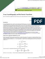 Xray Crysto N Fourier Transform