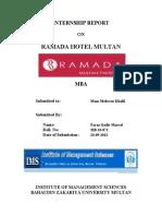 Internship Report Title