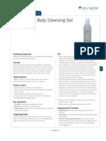 Antibacterial Cleansing Gel Product Profile