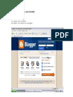 Como Crear El Blogger