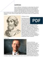 World Famous Mathematician