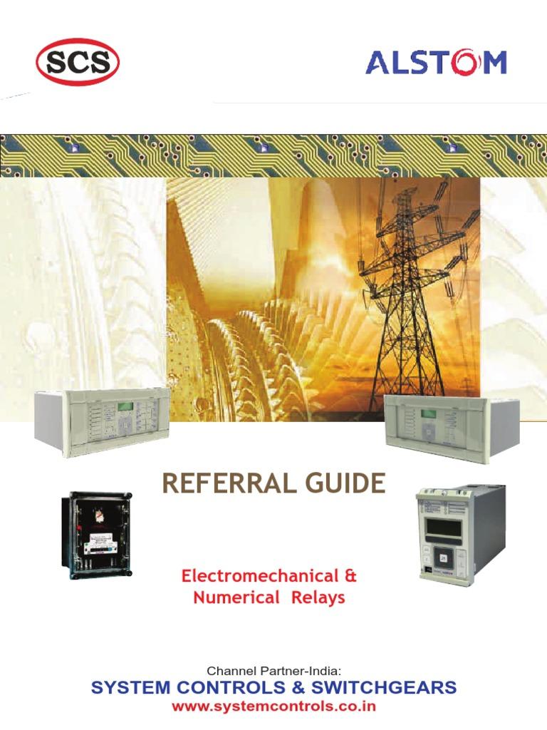 Relay Referral Guide Alstom - Alstom electromagnetic relay catalogue