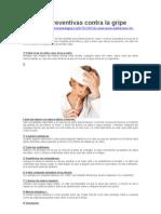 Medidas Preventivas Contra La Gripe