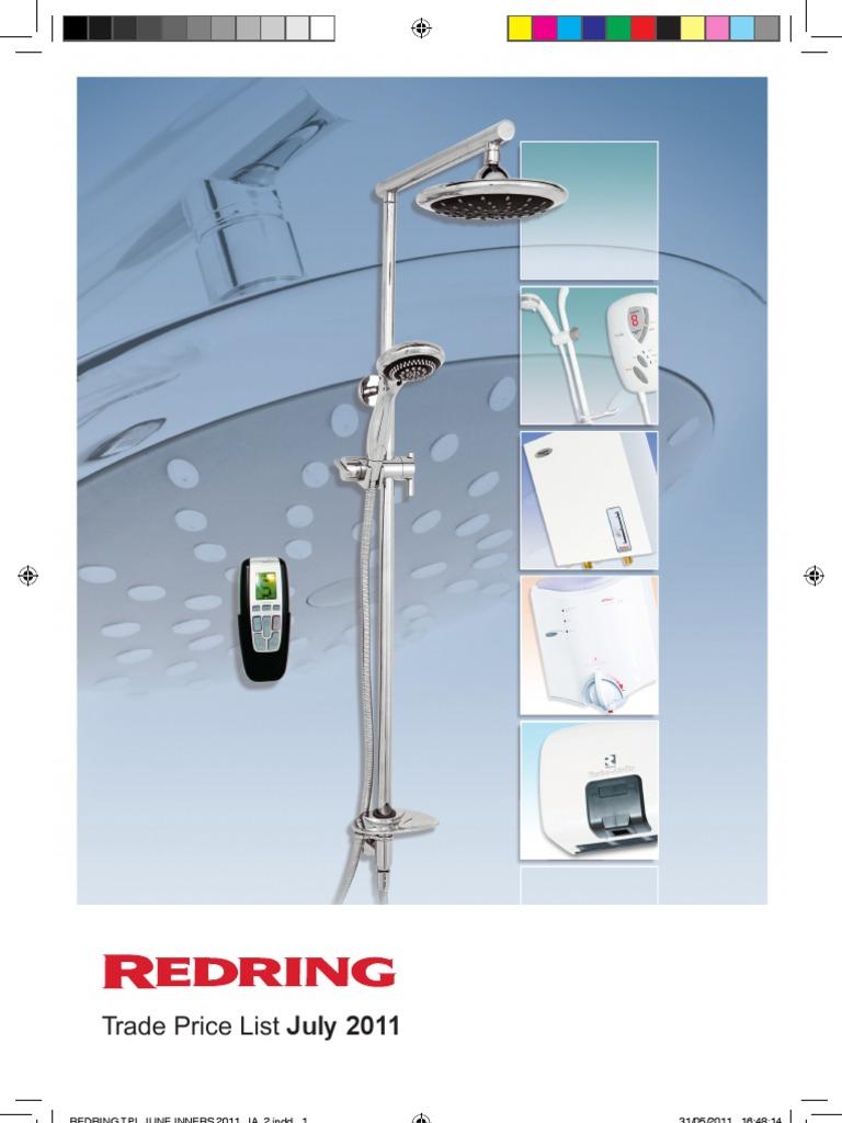 Redring Trade Prices2011pdf