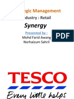 strategic management on retail sector tesco