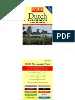 Langue Hollandais Berlitz Guide de Conversation Et Lexique Pour Le Voyage (+Vocabulaire)