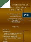 Study of Radiation Effect on RPV Steel