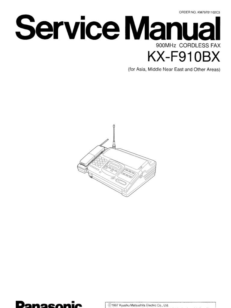 Инструкция для телефона panasonic kx f910bx