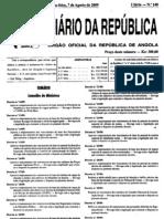 Decreto exec. nº 80 09 de 7 de agosto