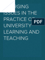 Emerging Issues in the Practice of University Learning and Teaching