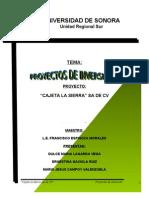 Proyecto Productivo Cajeta La Sierra
