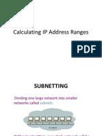 Calculating IP Address Ranges VER2