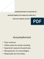 Acoustophoresis