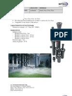 Fisa Tehnica Aspersor PROS-04 + Duza
