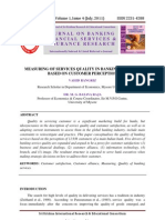 MEASURING OF SERVICES QUALITY IN BANKING INDUSTRY BASED ON CUSTOMER PERCEPTION