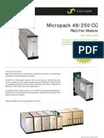 Datasheet Micropack Rectifier Module Nx250W