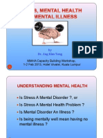 Stress Mental Health Mental Illness by Datin Dr. Ang Kim Teng