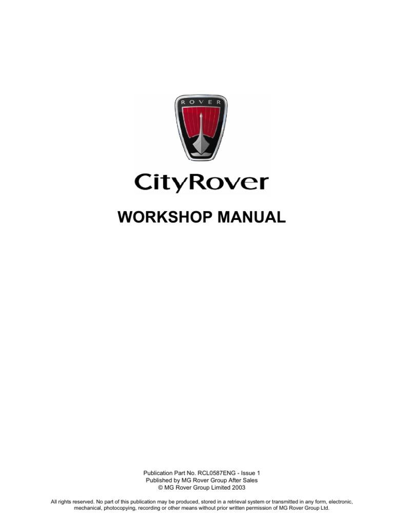 cityrover workshop manual engines fuel injection rh es scribd com Land Rover Range Rover Rover SD1