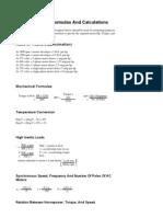 Basic Formulas and Calculations