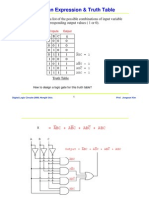 Boolean Algebra and Truth Tables
