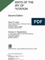Elements of Theory of Computation 2ed Lewis Papadimitriou