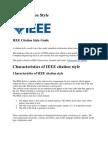 IEEE Citation Style