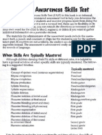 Phonological Awareness Skills Test