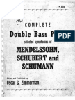 Zimmerman - The Complete Double Bass Parts Selected Symphonies of Mendelssohn, Schubert and Schumann
