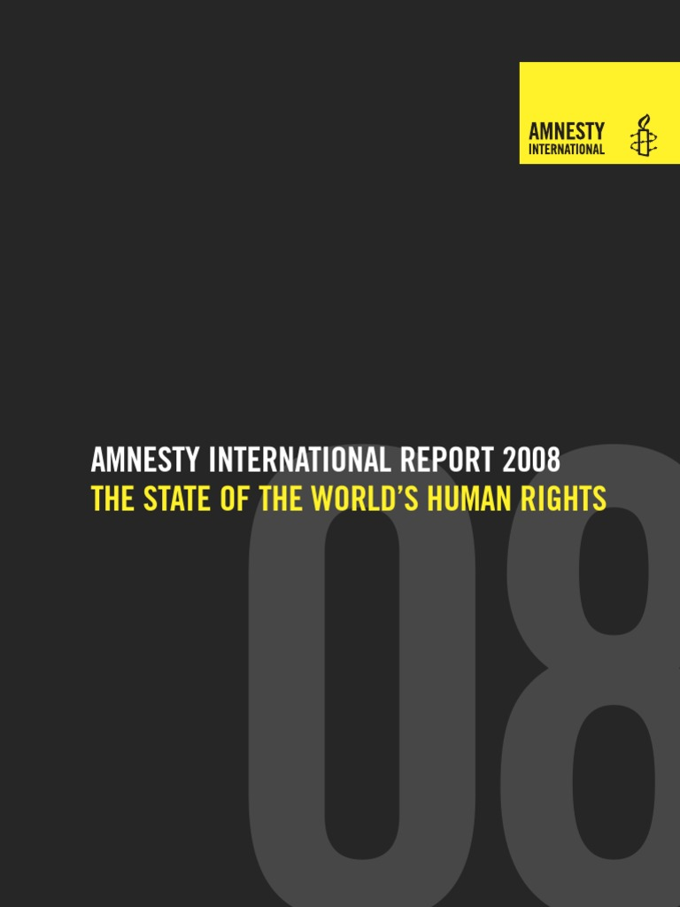 AMNESTY INTERNATIONAL REPORT 2008  c01a78be606