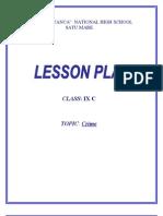 Lesson Plan - 9