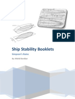 Ship Stability Booklets - Simpson's Rules