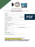 Planilla de Inscripcion de la AOV