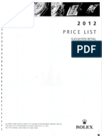 Rolex Price List June-1-2012