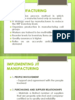 Jit Manufacturing JUST IN TIME COSTING