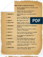 The Original Thirteen Virtues of Benjamin Franklin
