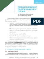 PRUEBAS DE LABORATORIO Y PARÁMETROS BIOQUIMICOS EN SANGRE