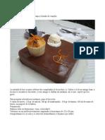 Tarta de Naranja Con Chocolate y Helado de Vainilla