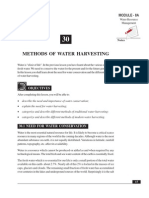 Methodfs of Water Harvesting