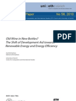 Old Wine in New Bottles?The Shift of Development Aid towards Renewable Energy and Energy Efficiency