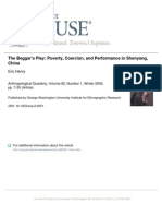 Henry - 2009 - The Beggar's Play Poverty, Coercion, And Performance in Shenyang, China