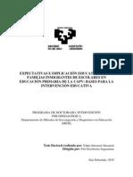 Expectativas e Implicacion Educativa de Las Familias Inmigrantes de Escolares en Educacion Primaria en La CAPV