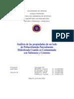poliacriamida parcialmente hidrolizada