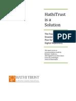 Rapport d'HathiTrust sur un plan de sauvegarde des données informatiques en cas de sinistre.
