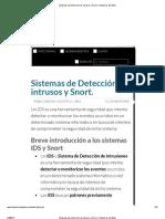 Sistemas de Detección de intrusos y Snort