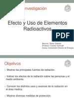 Efecto y Uso de Elementos Radioactivos