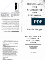 Lexical Aids for Students of New Testament Greek Bruce Metzger