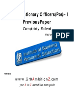 IBPS PO I Previous Paper (Completely Solved) - Gr8AmbitionZ