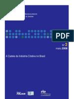 FIRJAN. A Cadeia da Indústria Criativa no Brasil